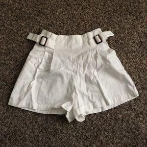 White Woven Shorts - Forever 21